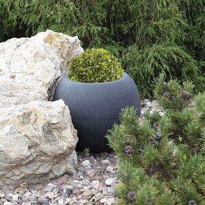 Dekorační květináč Rillen Grey výška 34 cm