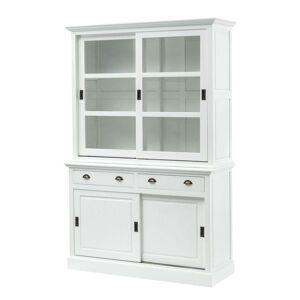 Kredenc New England white, 2 + 2, 143x52x215cm