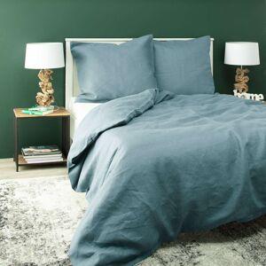Ložní povlečení Linen 160x200cm gray-blue